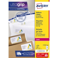 Avery L7163 étiquettes laser Jam Free 99,1x38,1mm - boite de 1400