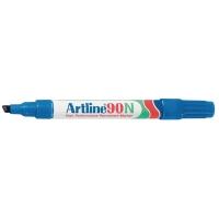Artline 90N marqueur permanent pointe biseautée 2 - 5 mm bleu