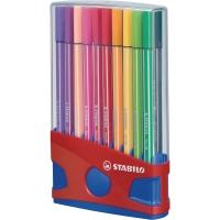 Stabilo 68 feutres de couleur 1mm assorti - boîte de 20