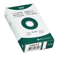 Exacompta fiches lignées 75x125mm blanches - paquet de 100