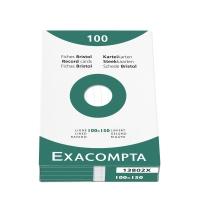 Exacompta fiches lignées 100x150mm blanches - paquet de 100