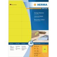 Herma 4406 étiquettes colorées 70x37mm jaune - boite de 2400