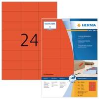 Herma 4407 étiquettes colorées 70x37mm rouge - boite de 2400