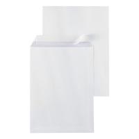 Pochettes 262x371mm bande siliconée 120g extra blanches - boite de 250