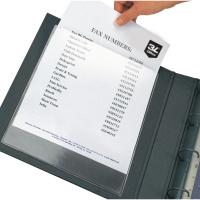 Pochettes autocollantes transparentes pour format A4 - paquet de 10