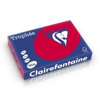 Clairefontaine Trophée 1218 papier couleur A4 120g rouge groseille-ram.250 flls