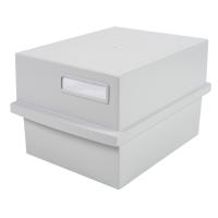 Exacompta Multiform bac à fiches pour 500 cartes A6 gris clair