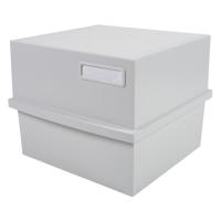 Exacompta Multiform bac à fiches pour 500 cartes A5 gris clair