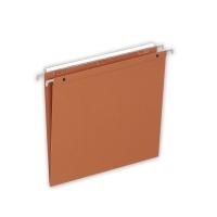 Lyreco dossiers suspendus pour tiroirs fond V 330/250 orange - boîte de 25