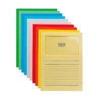 Elco 420515 Ordo pochettes coins avec fenêtre assorties - boîte de 100