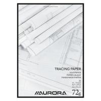 Aurora bloc de dessin papier calque A4 70/75g 20 feuilles
