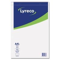 Lyreco bloc de bureau A4+ ligné agrafé 100 feuilles