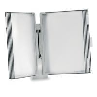 Tarifold 714300 système d affichage mural avec 10 poches en PP gris