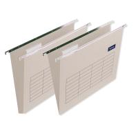 Lyreco dossiers suspendus pour tiroirs A4 fond V kraft - boîte de 25