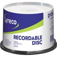 Lyreco DVD-R 4.7GB vitesse 1-16x cloche - paquet de 50