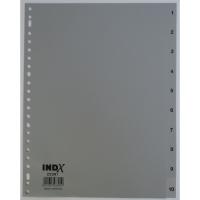 IndX intercalaires numériques 10 touches PP 23 trous