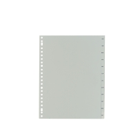 IndX intercalaires mensuels version neerlandaise PP blanc 23 trous