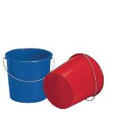 Seau en polyéthylène 10 l assorti bleu ou rouge