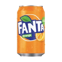 Fanta Orange boisson non-alcoolisé cannette 33 cl - paquet de 24