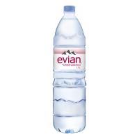 Evian eau non pétillante bouteille 1,5l - paquet de 6