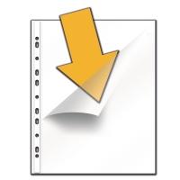 Pochettes perforées avec ouverture en coin 11/100e PP - paquet de 100