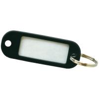 Porte-clés en plastique noir - paquet de 20
