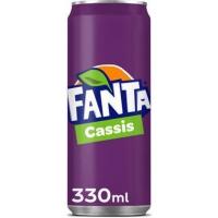 Fanta Cassis cannette 33cl - paquet de24