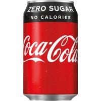Coca-Cola Zero boisson non-alcoolisé cannette 33 cl - paquet de 24