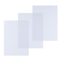 Pavo 8009282 couvertures A4 en PVC 250 micron transparentes - paquet de 100
