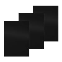 Pavo 8011315 couvertures A4 en PP 400 micron noires - paquet de 100