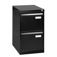 Bisley Basic armoire à archives pour dossiers suspendus 2 tiroirs H71 cm noir