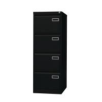 Bisley Basic armoire à archives pour dossiers suspendus 4 tiroirs H132cm noir