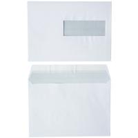 Enveloppes FSC 156x220mm bande siliconée fenêtre à droite 80g - boite de 500