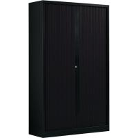 Armoire à rideaux Ariv avec 4 tablettes 120x198x43cm - noir