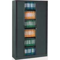 Ariv armoire à rideaux 4 tablettes 120x198x43cm anthracite