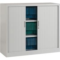 Armoire à rideaux Ariv avec 2 tablettes 120 x 105 x 43 cm - aluminium