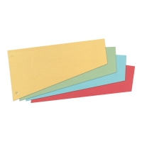Herlitz Intercalaires trapézoïdaux petit format carton 190g jaune -paquet de 100