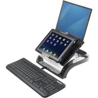 Fellowes 8020901 Smart Suites support pour ordinateur portable noir/transparant