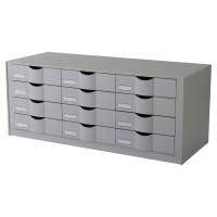 Paperflow Easy Office module de rangement 12 tiroirs 81,3x32,9x34,2cm gris