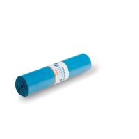 Sac poubelle 37 microns LDPE  70x110cm bleu - rouleau de 25