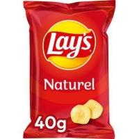 Lays chips sel 40g - paquet de 20