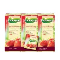 Pickwick sachet de thé fraise - paquet de 3 x 25