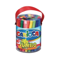 Carioca Jumbo feutres couleurs assorties - le boîte de 50