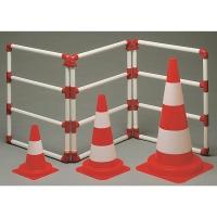 Viso cône de circulation réfléchissant classe 2 PP hauteur 49 cm orange/blanc