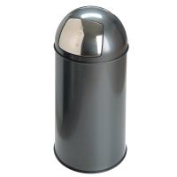 Vepa Bins Pushcan corbeille métallique 40l gris
