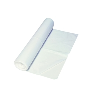 Sac poubelle 10 microns HDPE 60cmx60cm blanc - rouleau de 50