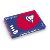 Clairefontaine Trophée 1378 papier couleur A3 120g rouge cerise-ram-250 feuilles