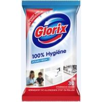 Glorix lingettes nettoyante emballage refermable - paquet de 30 maxi