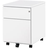 Caisson 43x54,5x57 cm 2 tiroirs blanc