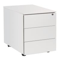 Caisson 43x54,5x57 cm 3 tiroirs blanc